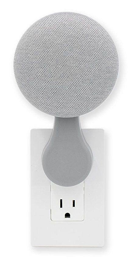 Plugin Mount   Google Home Mini Accessory (Chalk) is part of Home Accessories Shop Living Rooms - [usr 5]Great little mount for my Google Home Mini  Gets it up off my desktop, freeing up space  [usr 5]Works perfectly! It neatly stores my Google Home Mini off of the counter  A 3m doublesided…