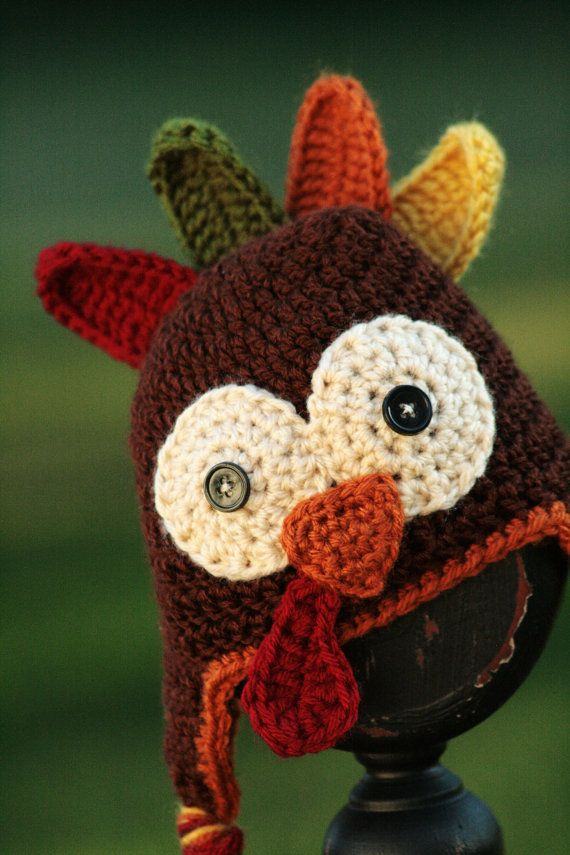 Crocheted Turkey Hat Pattern By Scrapmadecreations On Etsy Crochet