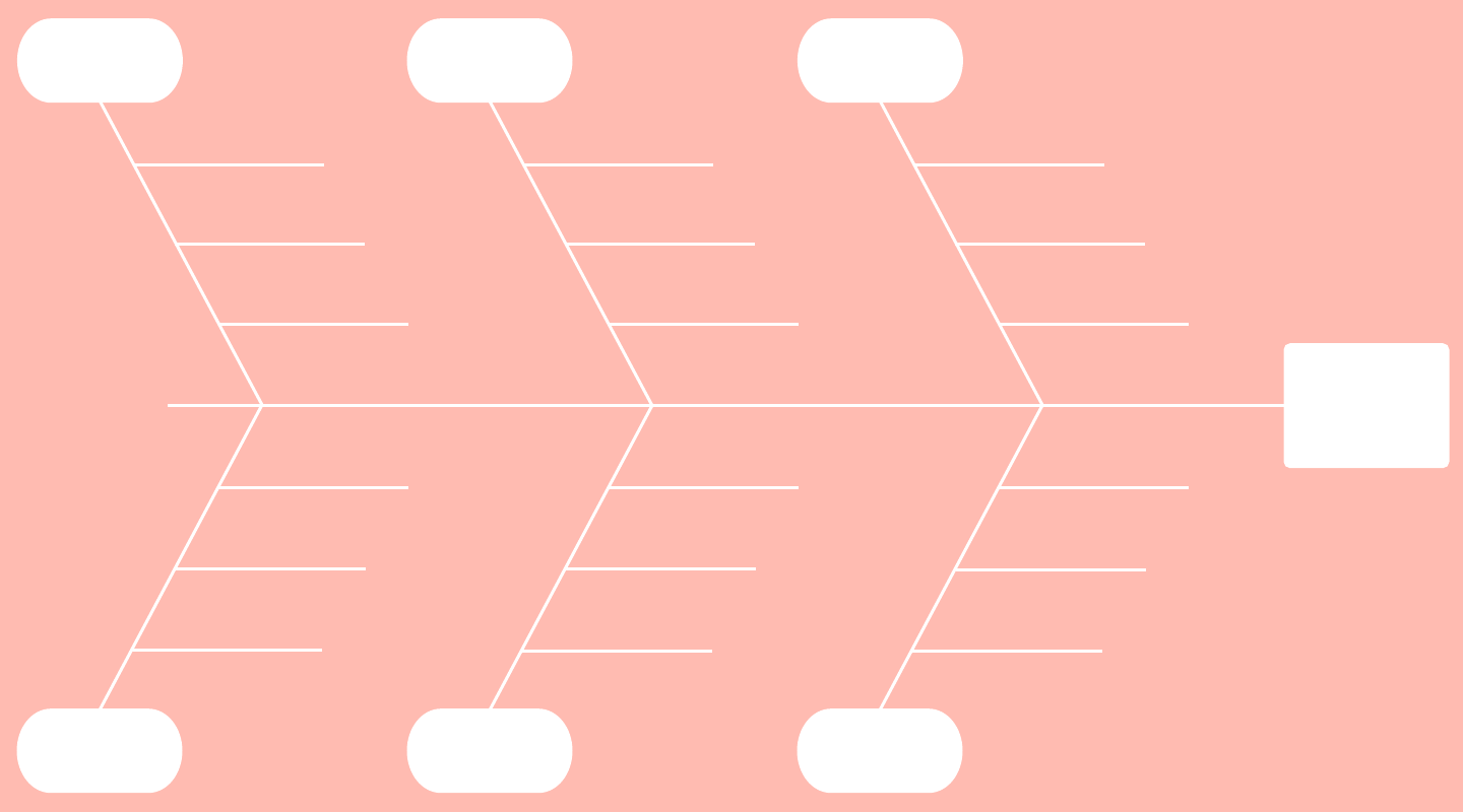 blank fishbone diagram template (With images) | Fish bone ...