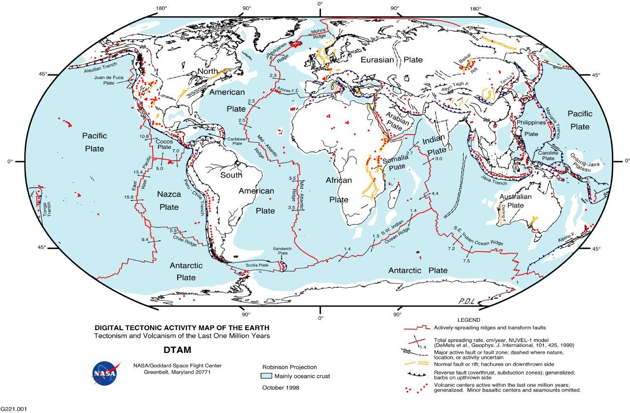 World Tectonic Map Mappery