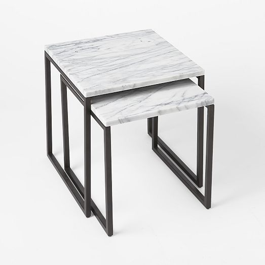 Box Frame Nesting Tables Marble Antique Bronze Nesting Tables Coffee Table Marble Top Coffee Table