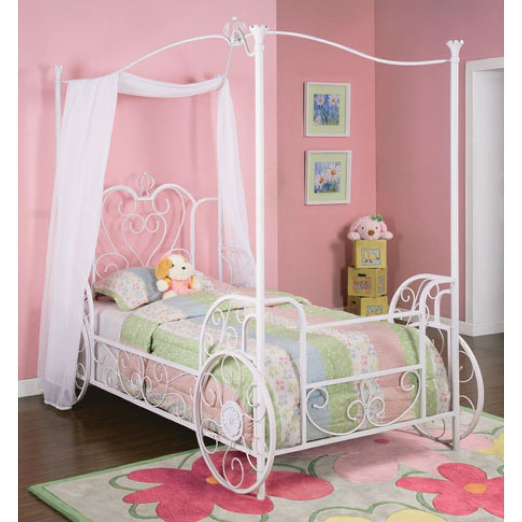 Princess Emily Canopy Twin Bed Powell furniture