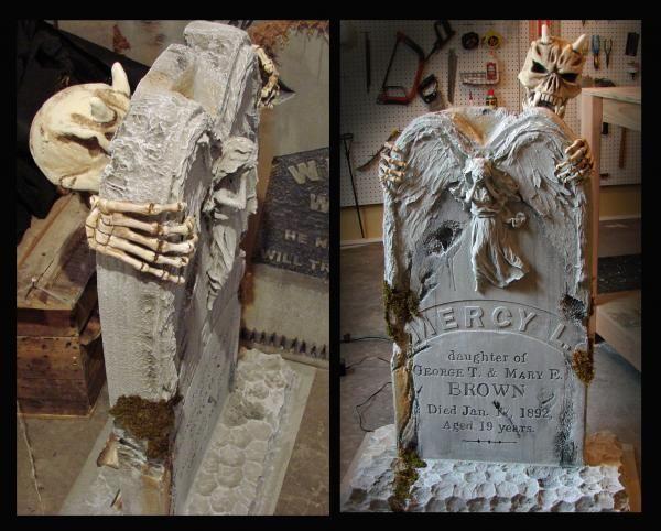 Weeping Angel Tombstone: Tutorial - Blogs - Halloween ...