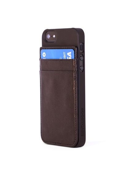 hot sale online 0e364 e17c3 Hybrid iPhone 5 Snap-On Case & Attachable Leather Credit Card Holder ...