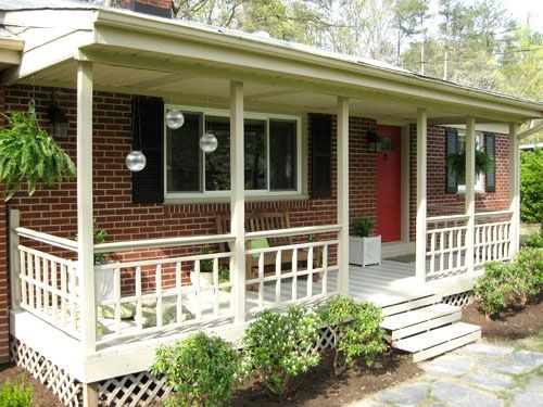 Front Porch On Brick Rancher Front Porch Makeover Small Front