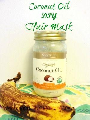 Homemade Hair Mask With Coconut Oil Pinterest Hausmittel