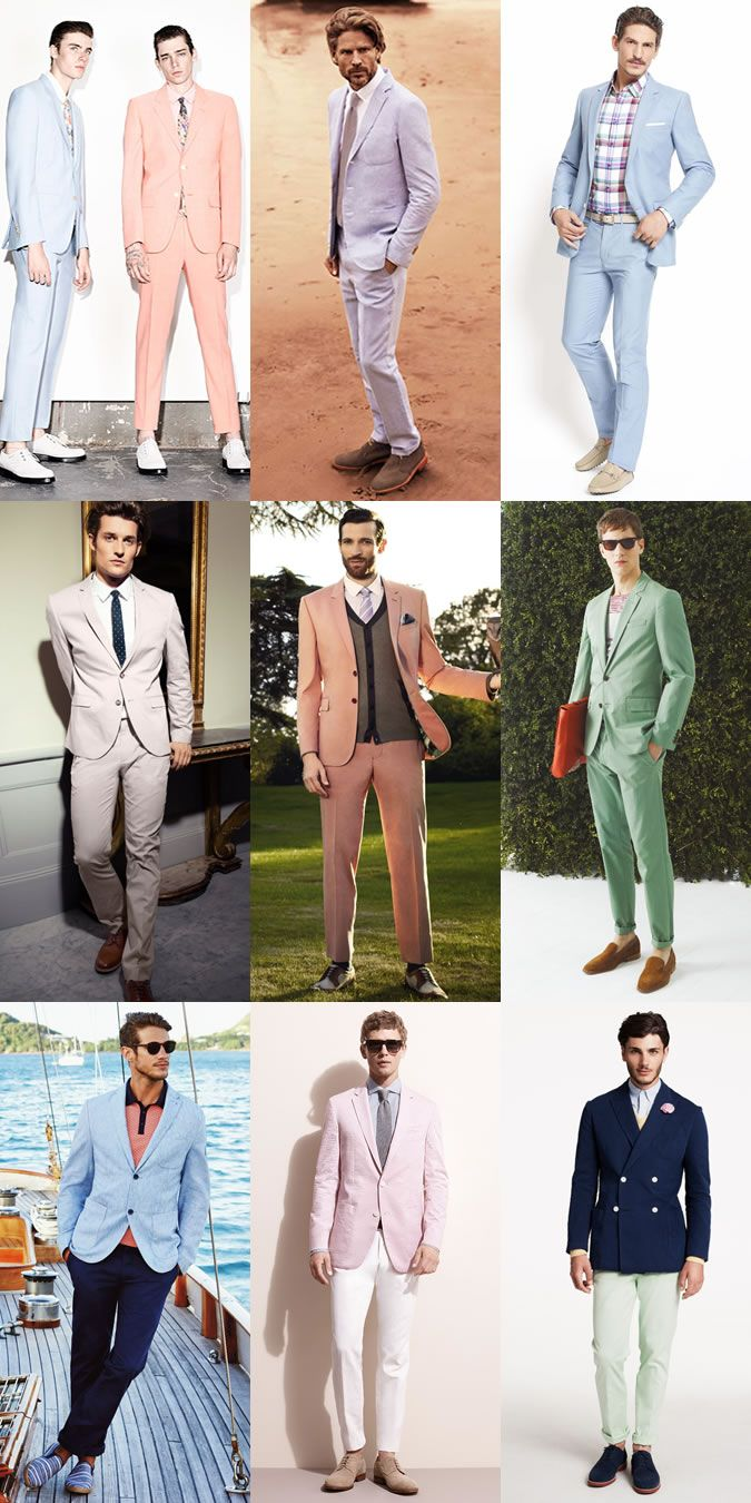5 Key Men's Suit Styles For 2014 SpringSummer: Pastel Suits