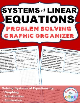 Systems of linear equations word problems with graphic organizer this resource includes 10 real world systems of linear equations word problems that students must ibookread Download