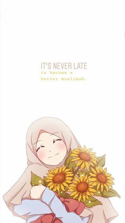 60+ Gambar Kartun Muslimah Lucu, Cantik, Sedih Terbaru