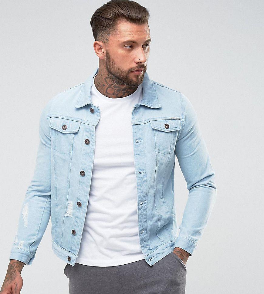 Liquor N Poker Light Blue Wash Denim Jacket Blue Blue Jean Jacket Outfits Jean Jacket Outfits Men Denim Jacket [ 972 x 870 Pixel ]