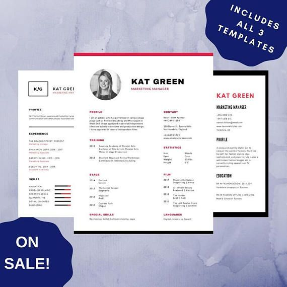 Professional Resume Template 10 CV Template PDF For Adobe Creative Resume  Modern Resume Design Resume Instant
