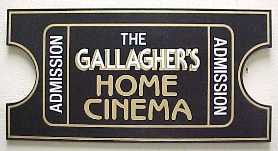 Personalized Movie Ticket Theater Sign   Gameroom   Pinterest