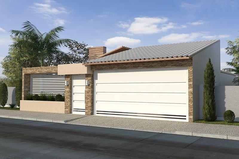 Planta de casa com varanda gourmet frente pinterest for Modelos de fachadas
