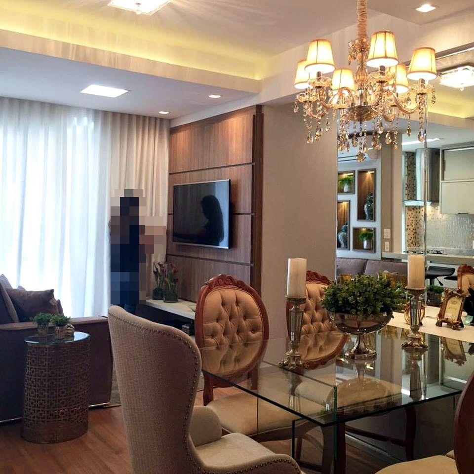 Salas E Cozinha Integradas No Apartamento Pequeno E Luxuoso Sala  -> Sala De Jantar E Sala De Estar Pequena