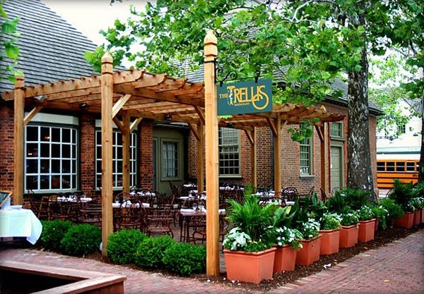Trellis Designs | The Trellis Restaurant Outdoor Patio Area Design