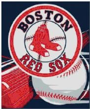 boston red sox mlb baseball and bat counted cross stitch pattern rh pinterest com Baseball Diamond Clip Art Baseball Diamond Clip Art