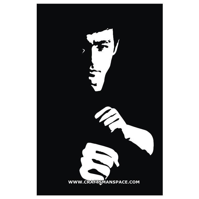 Bruce Lee Vector Portrait