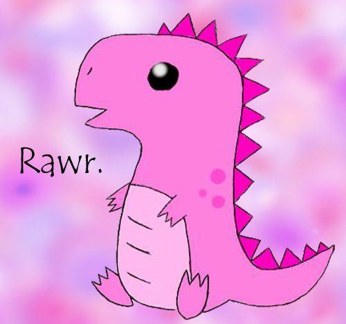 Cute Pink T Rex By Stinamuffin Dinosaur Wallpaper Cute Pink Pink Dinosaur