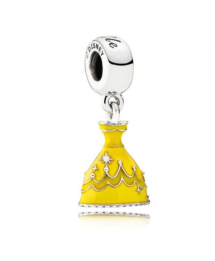 Belle's Dress with Enamel Dangle 791576ENMX   Belle dress disney ...