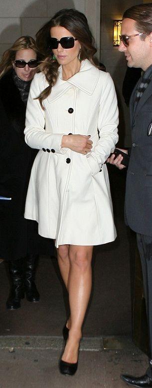 White coat | Jackets & Coats | Pinterest | Classy, Black button ...