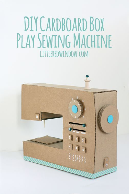 DIY Cardboard Box Play Sewing Machine #babyheadbandtutorial