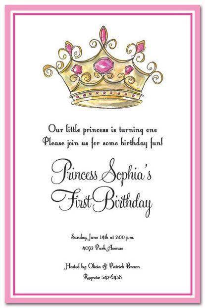 princess party invitation templates