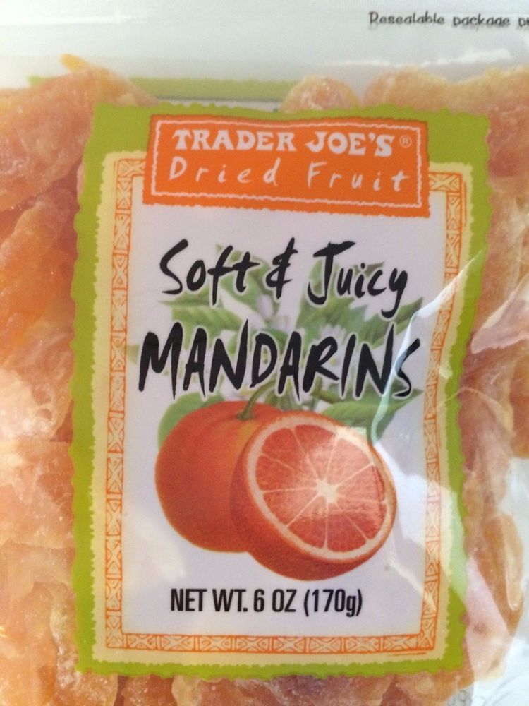Trader Joe's Dried Fruit SOFT & JUICY MANDARINS Dried Orange Fruit 4 6 OZ  BAGS | Orange fruit, Dried oranges, Dried fruit