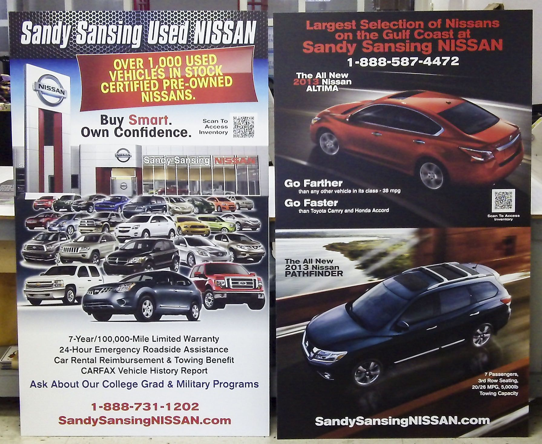 Sandy Sansing Used Nissan Poster By Pensacola Sign In Pensacola, Florida.  Banners And Posters Draw Attention To Your Business, Product Or Event  Effectively.