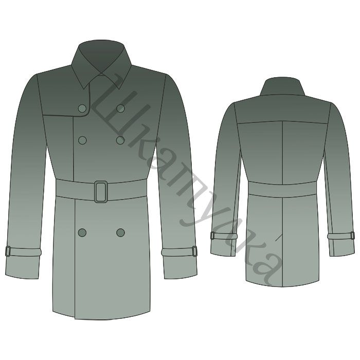 Выкройка мужского плаща | Sewing for men- tutorials, free patterns ...