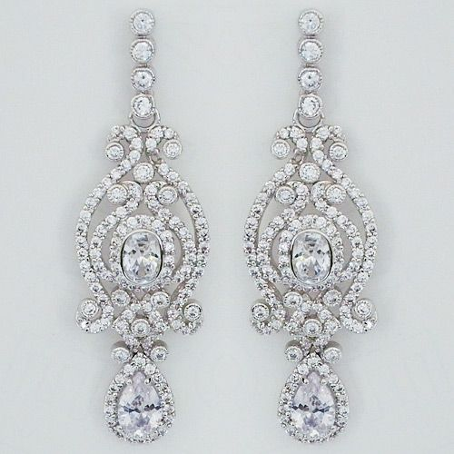 Design570570 Gold Chandelier Earrings for Wedding Rose Gold – Wedding Earrings Chandelier