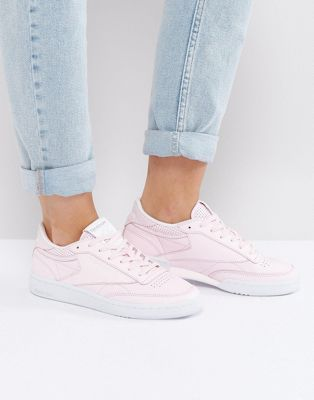 0319120bcb95a Reebok Classic Club C Sneakers In Pastel Pink