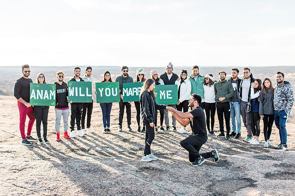 Click here to see this sweet proposal at enchanted rock in