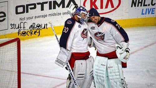 Columbus Blue Jackets Goalies Sergei Bobrovsky & Curtis McElhinney | Stuff About Hockey