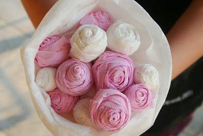 Kifli és levendula - rózsacsokor papírból kislányoknak  :)