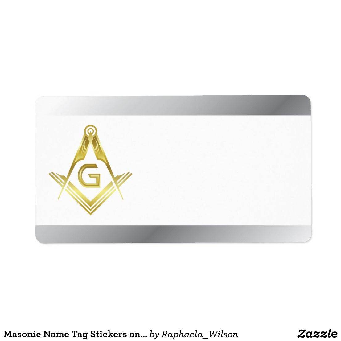 Masonic Name Tag Stickers and Labels   Custom Masonic Gifts ...