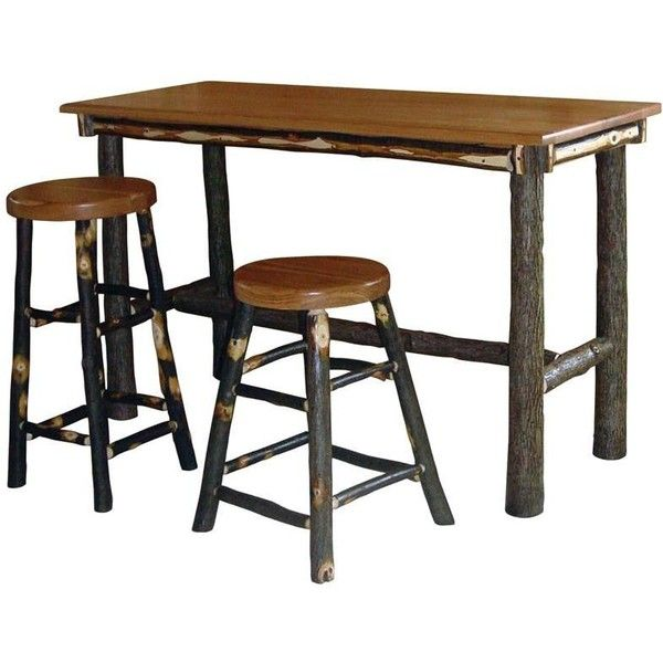 Amish Pub Tables Hickory Rectangle Table 767 Liked On Polyvore