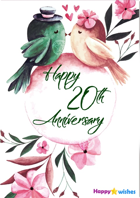 Happy 20th Anniversary Wishes Quotes Messages In 2021 Happy Anniversary Quotes Happy 20th Anniversary Happy Anniversary Wishes