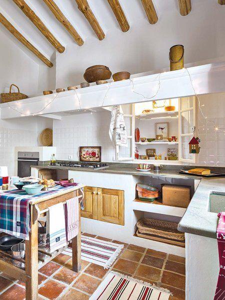 Empezar de cero: Un viejo cortijo rehabilitado   Cocinas rústicas ...