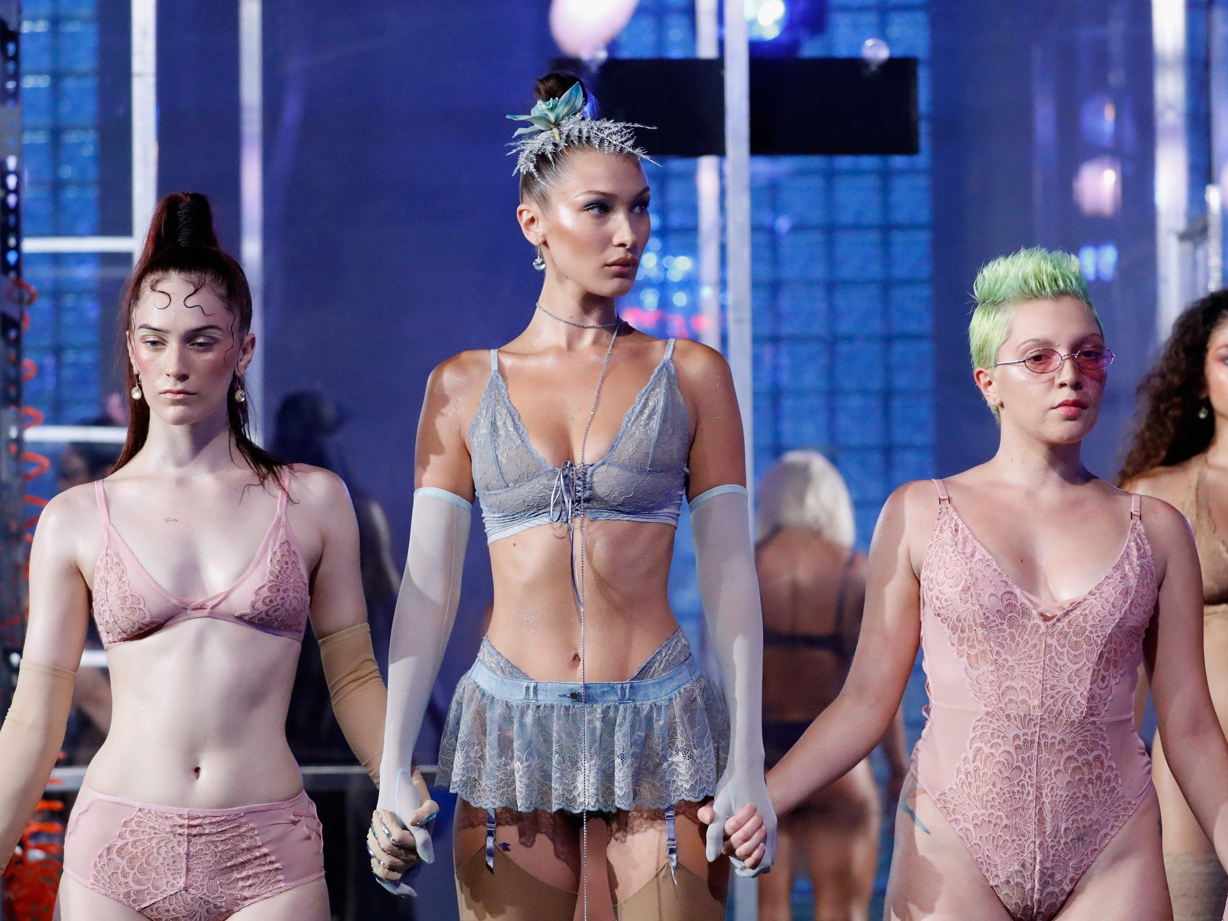 Rihanna s Savage X Fenty lingerie fashion show was a celebration of  diversity and body positivity—and included two pregnant women on the… be206cf0f