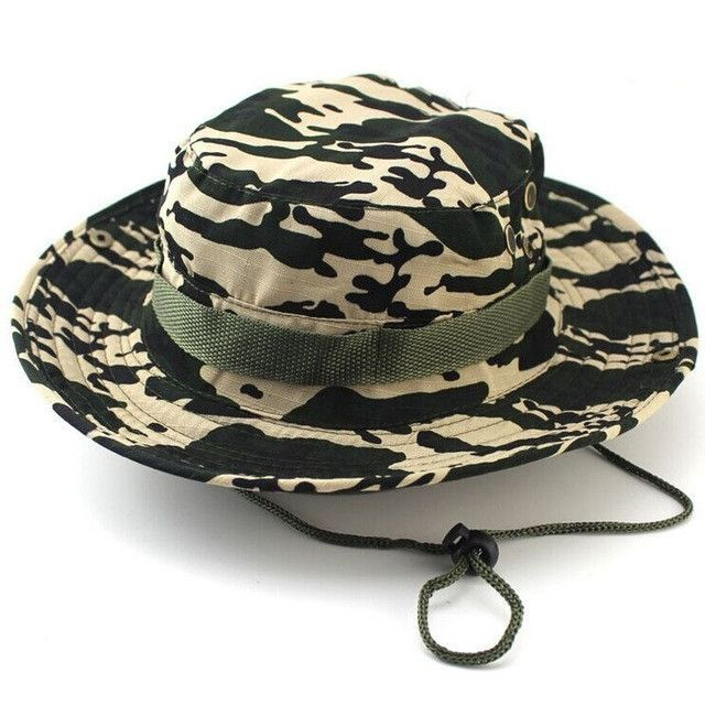 4095850d620 Outdoor Sports Fishing Hat Camouflage Bucket Hat Fisherman Camo Jungle Bush  Hats Boonie UV Protection Wide Brim Sun Caps Ripstop