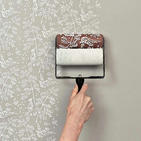 So Much Easyer Than A Stencil And Way Better Looking Than Wallpaper Yes Please Patterned Paint Rollers Classic Wallpaper Paint Roller