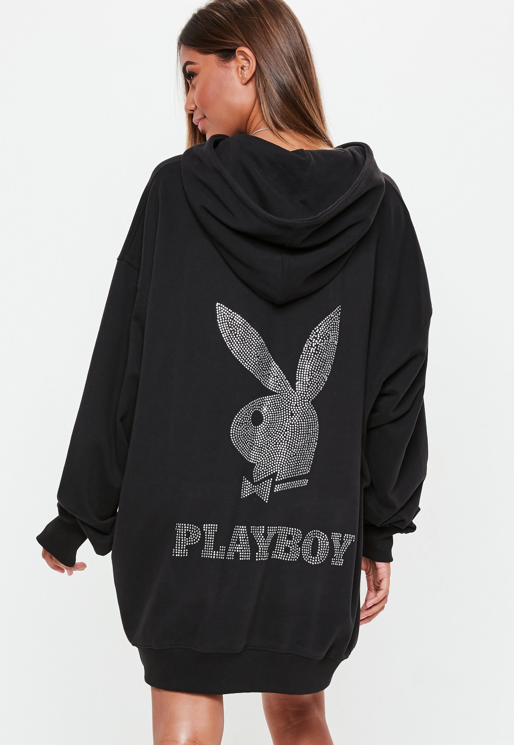 a51c0aeaab Playboy x Missguided Black Diamante Sweater Dress