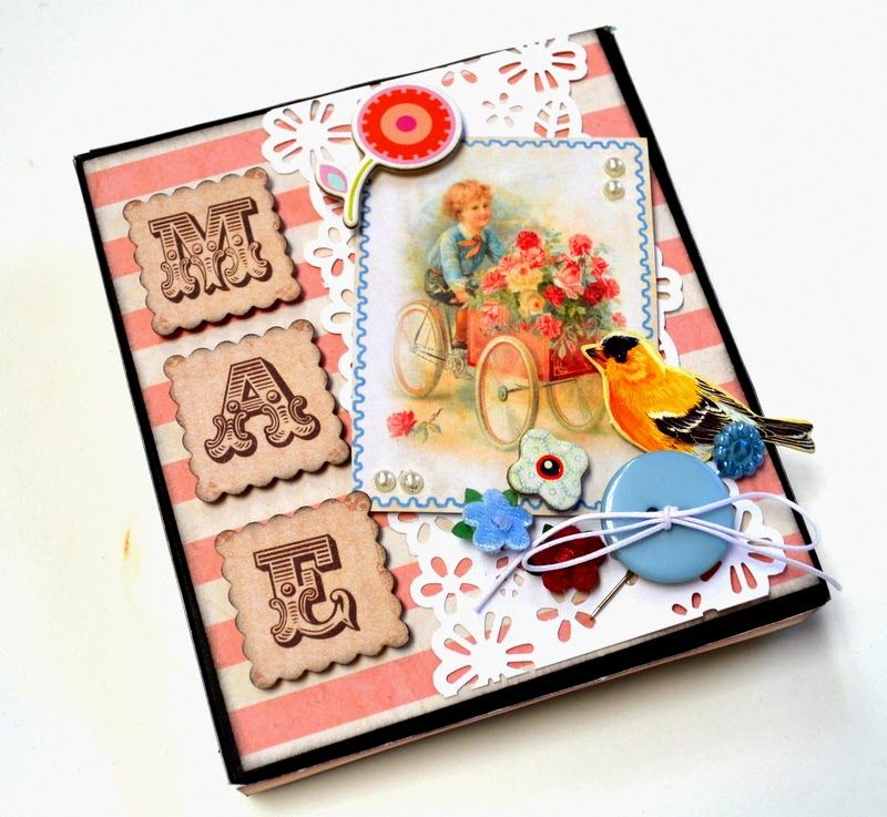 Recicled, DIY, Simple gift Mother´s day, mini album