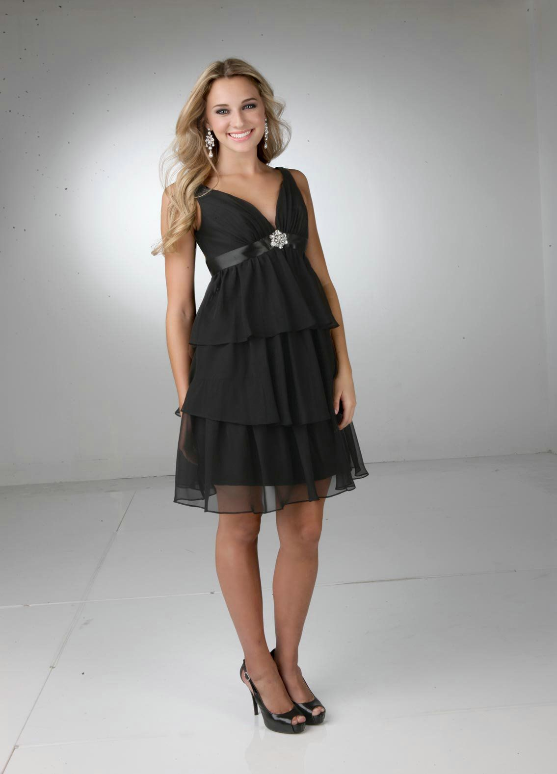 Elegant short black bridesmaid dress black bridesmaid dresses find this pin and more on black bridesmaid dresses by gracecather0125 ombrellifo Gallery