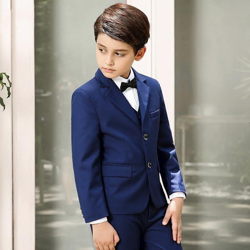 3 Piece Boys Children Wedding Groom Tuxedos Kid/'s Formal Party Graduation Suits