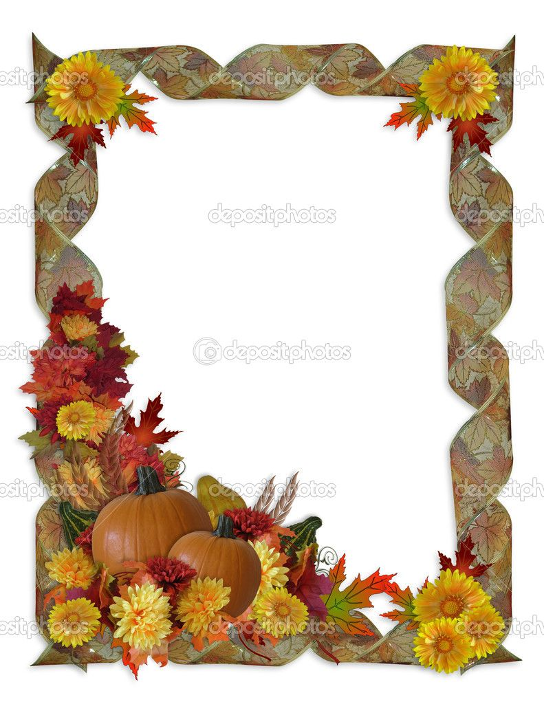 Free Thanksgiving Borders and Frames | Thanksgiving Autumn Fall ...