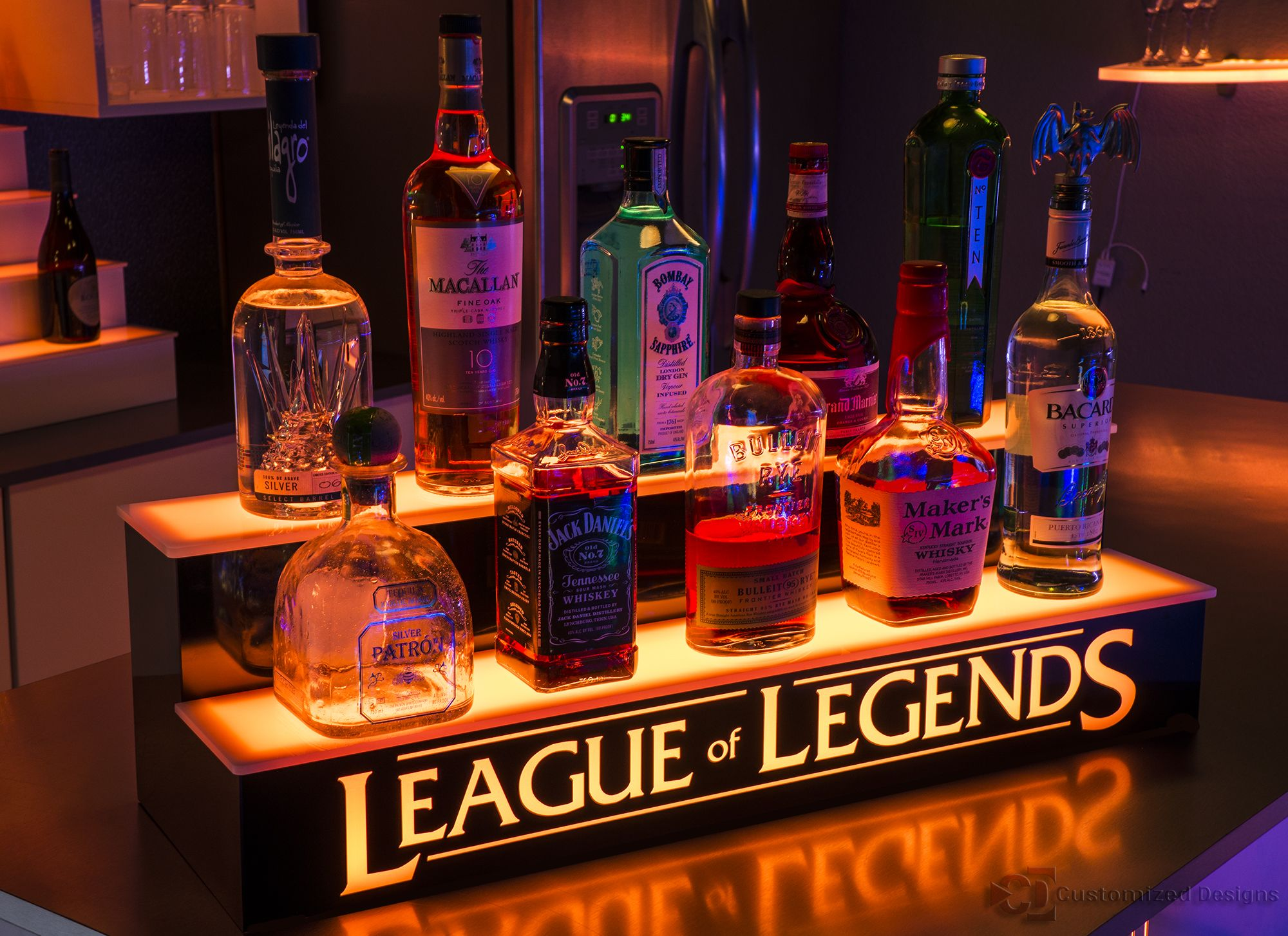 League Of Legends Bar Display Bar Displays Products Ideas Conceito Aberto Open Plan Ideias