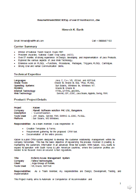 curriculum vitae italiano free download sample template