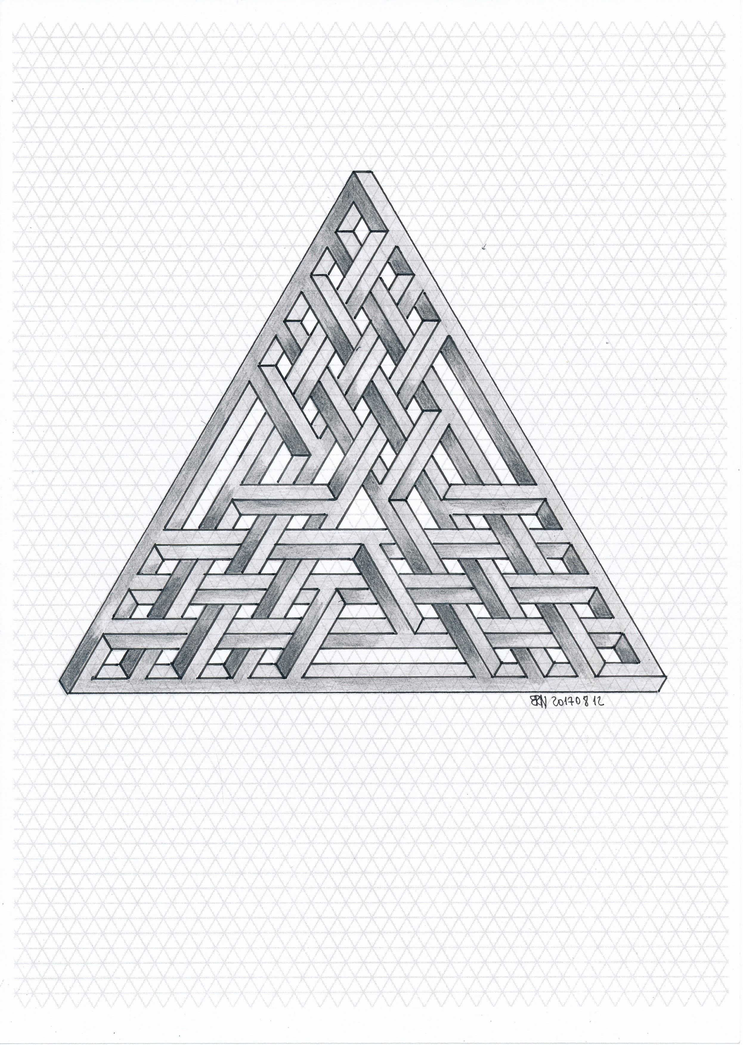 Penrose triangle: paper hands 74