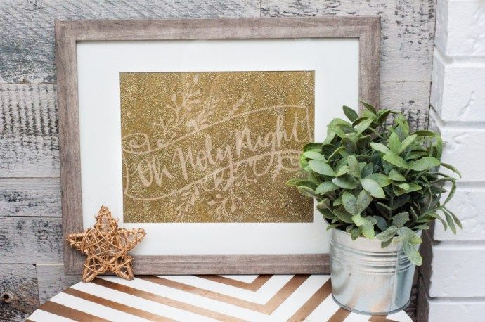 Silhouette Challenge: Glittery Christmas Song Lyric Art